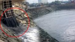 [취재N팩트] 인천 앞바다에 오염수 '콸콸'...구청은 뒷짐