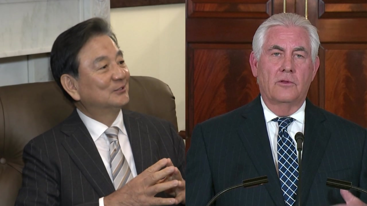 홍석현, 美 국무 면담...상하원과 '북핵·사드' 논의