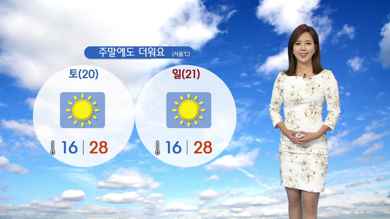 [날씨] 주말에도 때 이른 더위...한낮 7월 기온