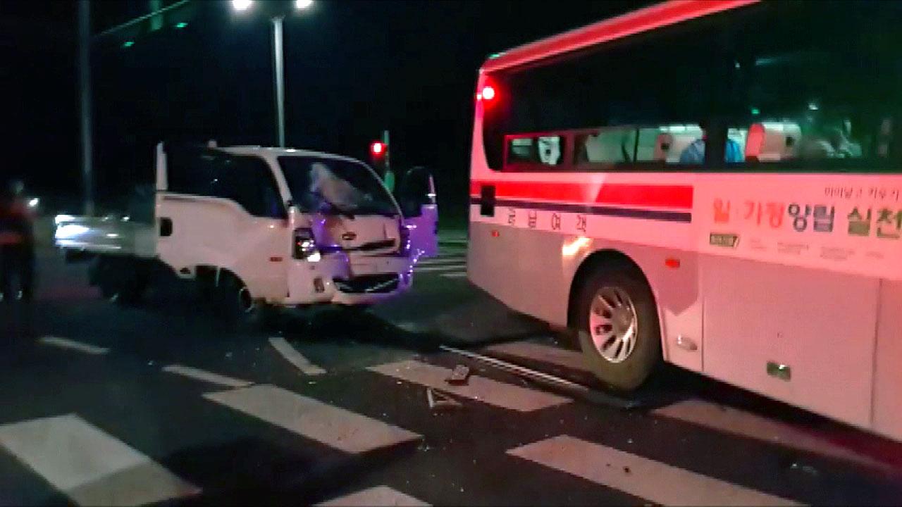 제주서 버스와 1톤 트럭 충돌...6명 부상