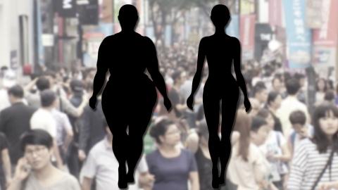 젊은 여성 비만 vs 저체중 체형 양극화