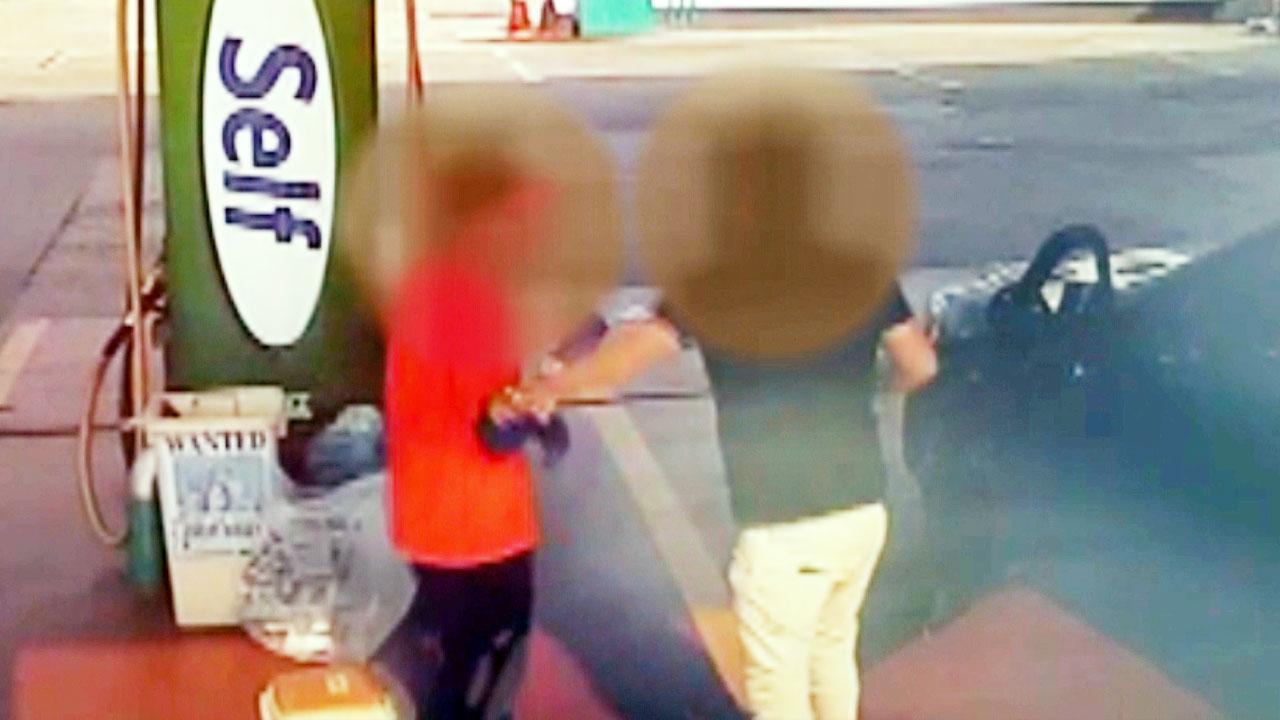 주유소에서 장애인 묻지마 폭행 경찰 조사