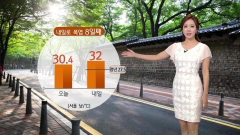 내일로 폭염 8일째...서울 32℃·대구 35℃