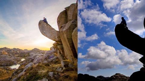 노르웨이의 유명한 남근 바위 훼손된 상태로 발견