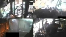美 디트로이트 버스 충돌 CCTV 화면 공개