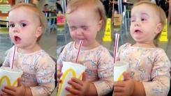'입에서 폭죽이 터진다'...탄산음료 처음 맛본 아기