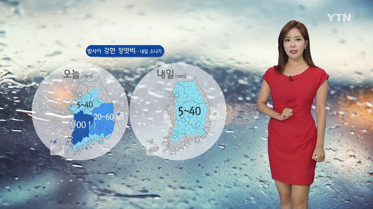 [날씨] 충청·호남 밤사이 강한 장맛비...내일 소나기