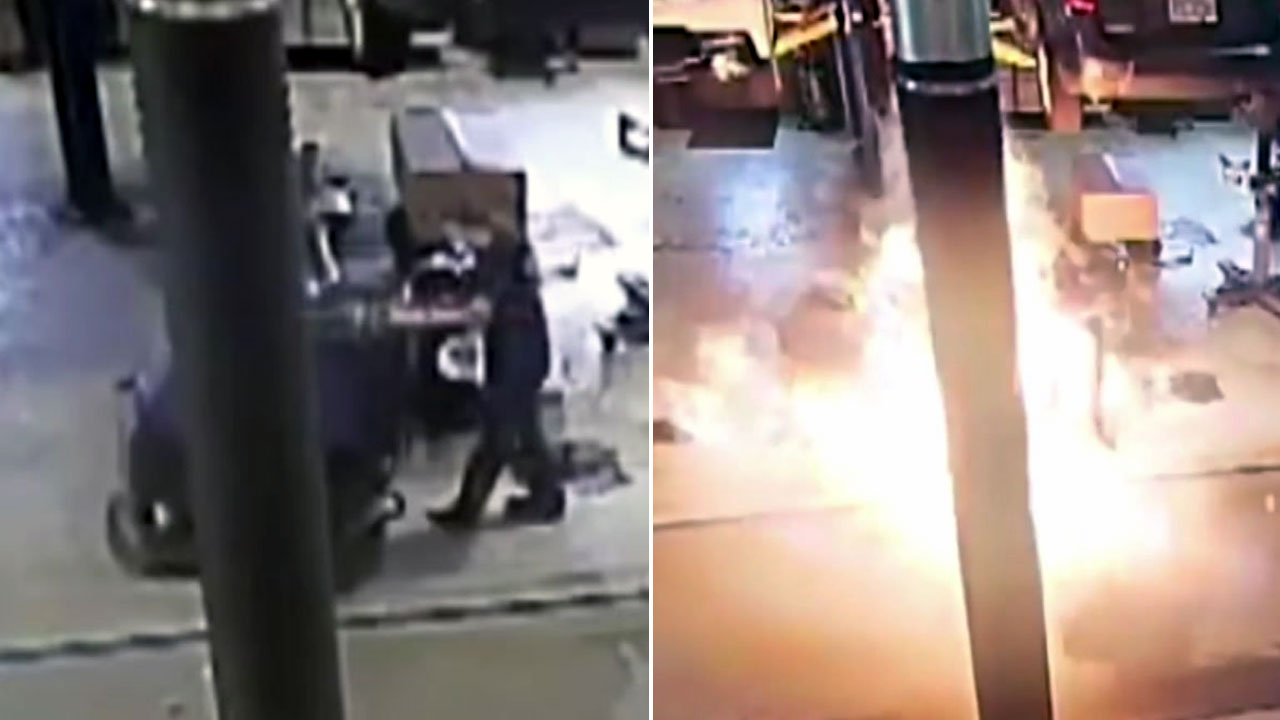 기름 쏟은 바닥에서 폭발한 '바닥 세척기'