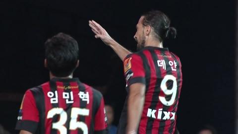 '해결사' 데얀, 3경기 연속골...득점왕 추격