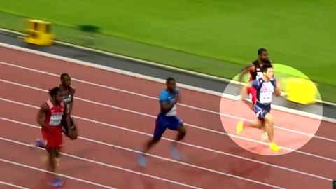 김국영 '새 역사 썼다'...한국 육상 최초 세계선수권 100m 준결승 진출