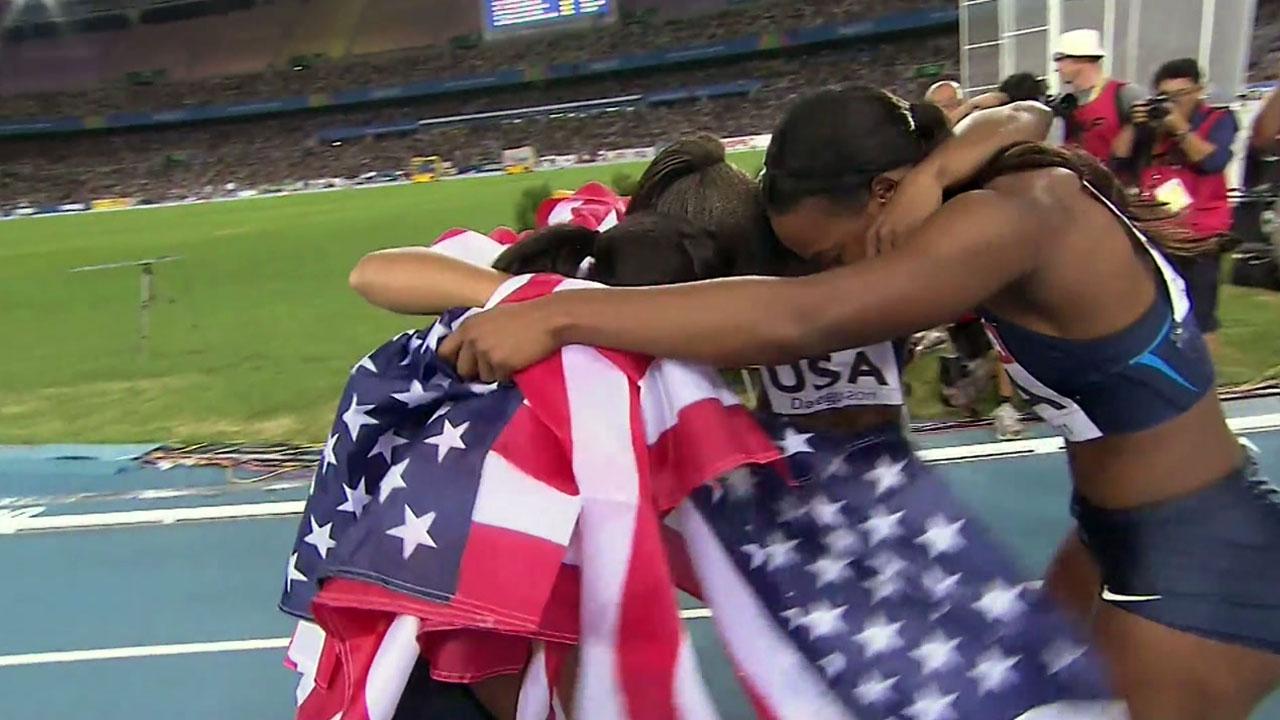 부활한 육상 강국...미국 세계선수권 '금빛 질주'
