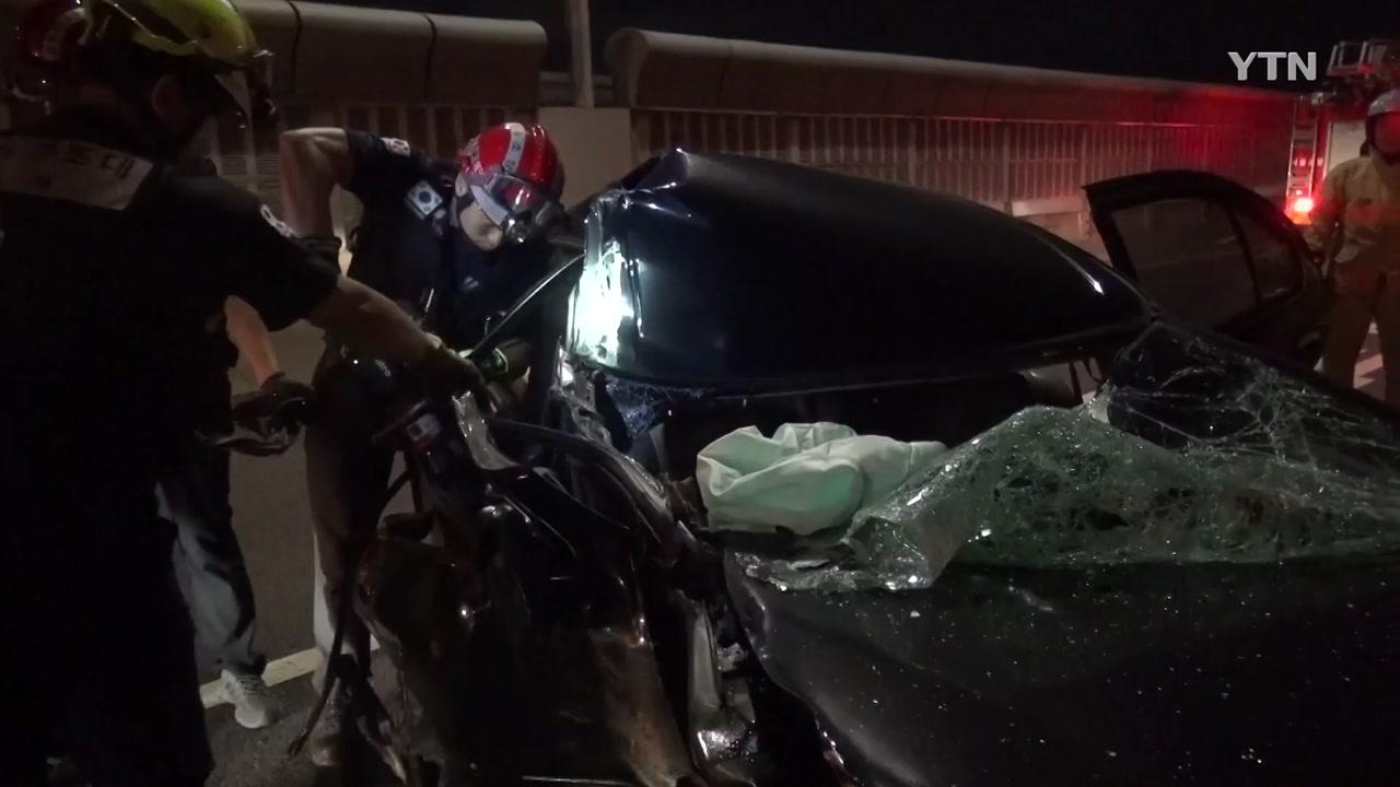 서울 내부순환로에서 차량 3대 부딪쳐...2명 사상