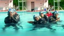 '예쁘게 봐주세요'...수중발레에 도전한 경찰