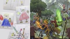 아들 낙서 만화로 만들어주는 애니메이션 아티스트