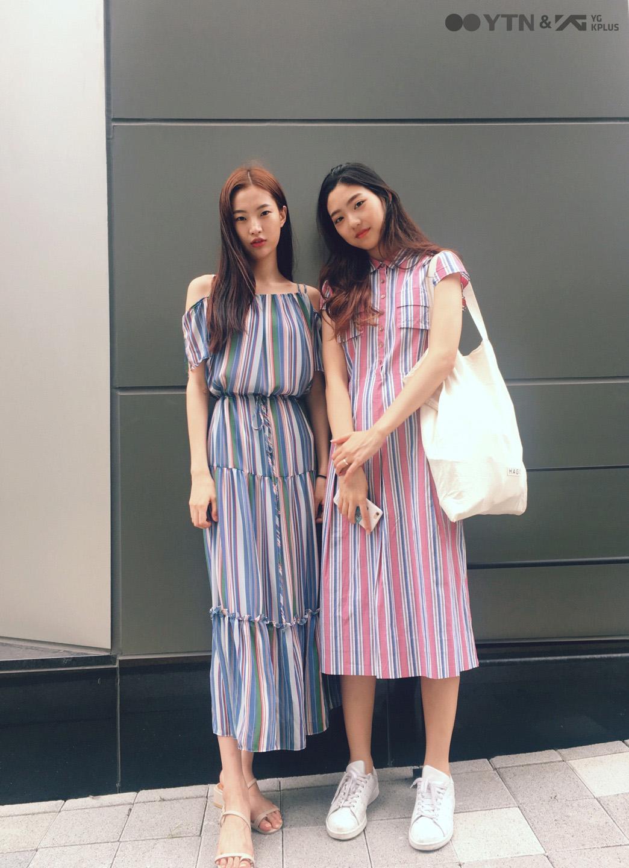 모델 김명진-조예림의 두 배로 예쁜 트윈룩!
