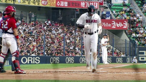 '21일 만에 선발' 김재호, 결승홈런 작렬