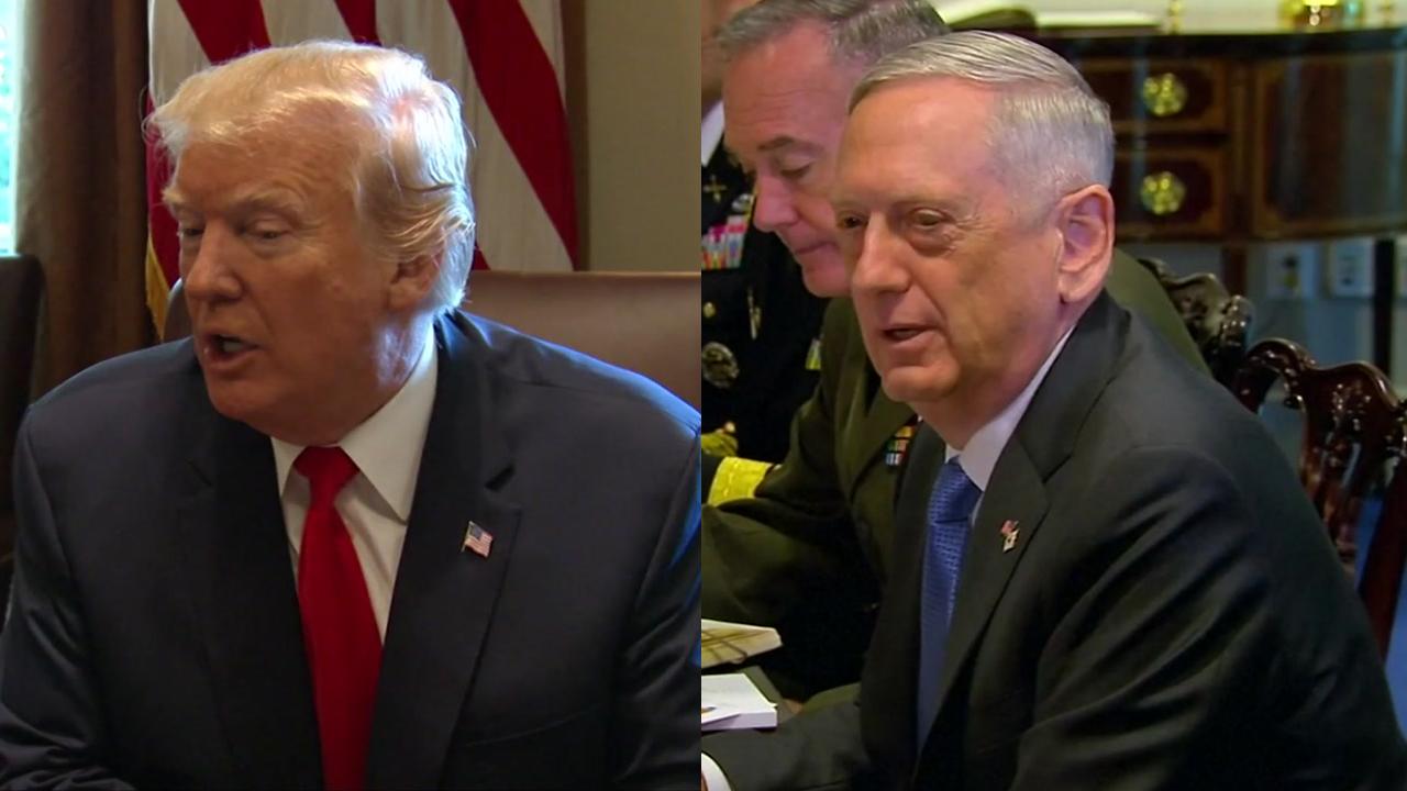 """[취재N팩트] 트럼프 """"北과 대화 답 아니다"""" vs 매티스 """"외교적 해법 안 벗어날 것"""""""