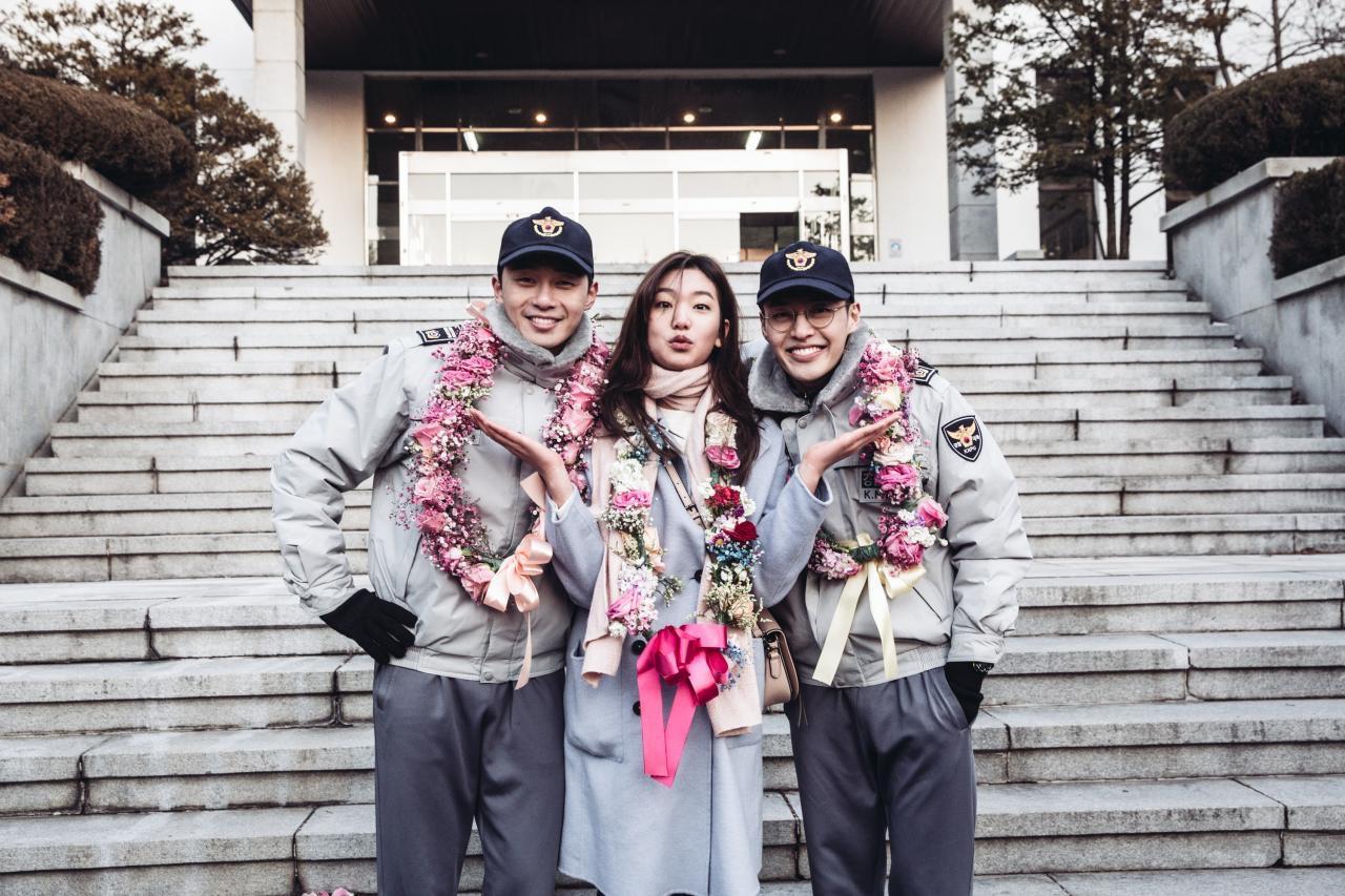이호정, '청년경찰' 박서준&강하늘과 함께한 비하인드 컷 공개