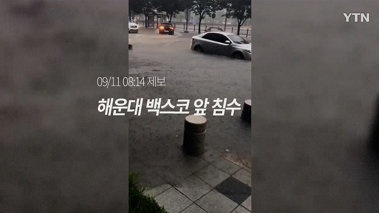 """[영상] """"밖에 다닐 수도 없다"""" 부산 폭우 침수피해 현장"""