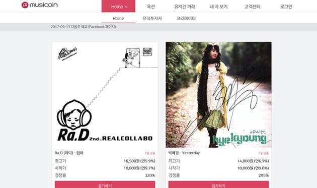 뮤지코인, 8주 연속 옥션 마감…경쟁률 544%까지