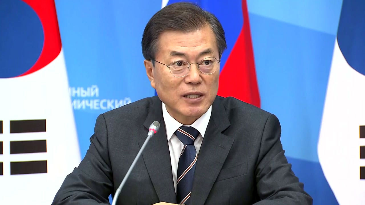 """문재인 대통령 """"자체 핵개발·전술핵 재배치 동의 안 해"""""""