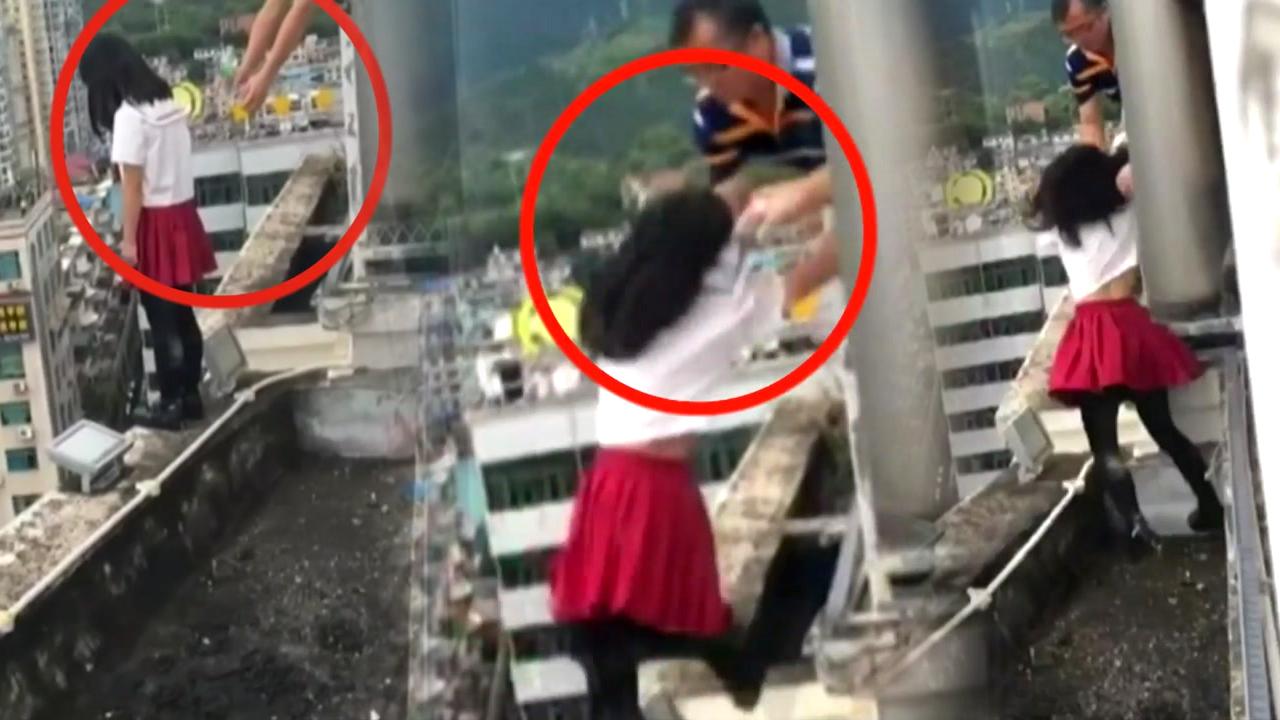 [영상] 자살 시도 여제자 구한 교장 선생님