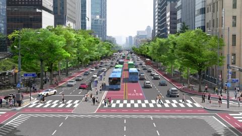 서울 종로 버스전용차로 공사로 5개 버스 노선 변경