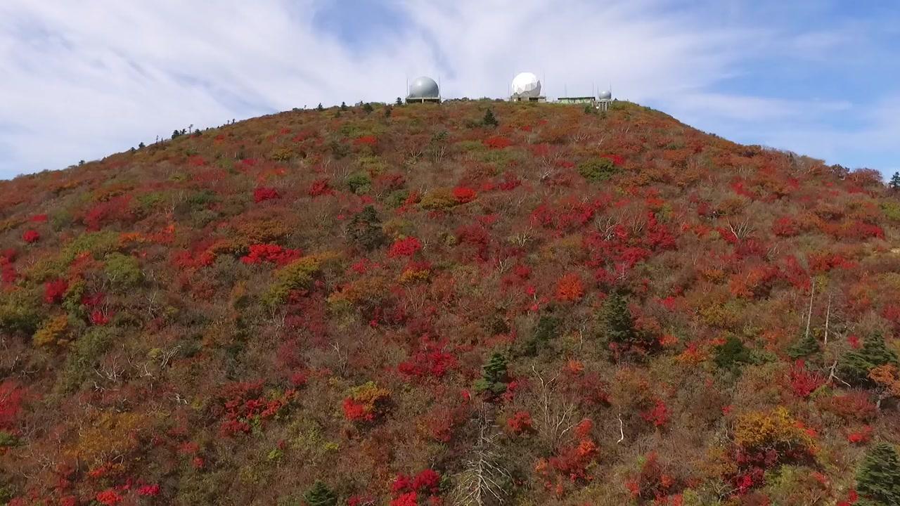 가을옷 갈아입은 설악산...첫 단풍 시작