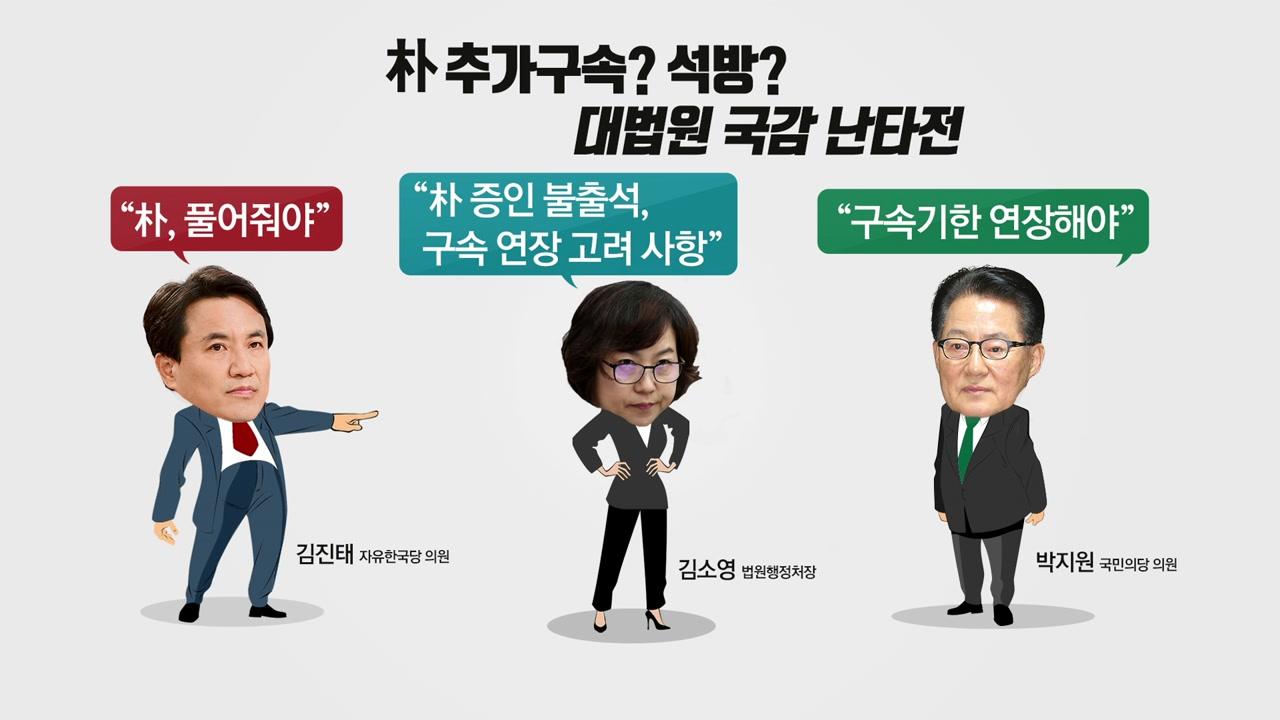 '朴 구속 여부' 국감서도 '뜨거운 감자'
