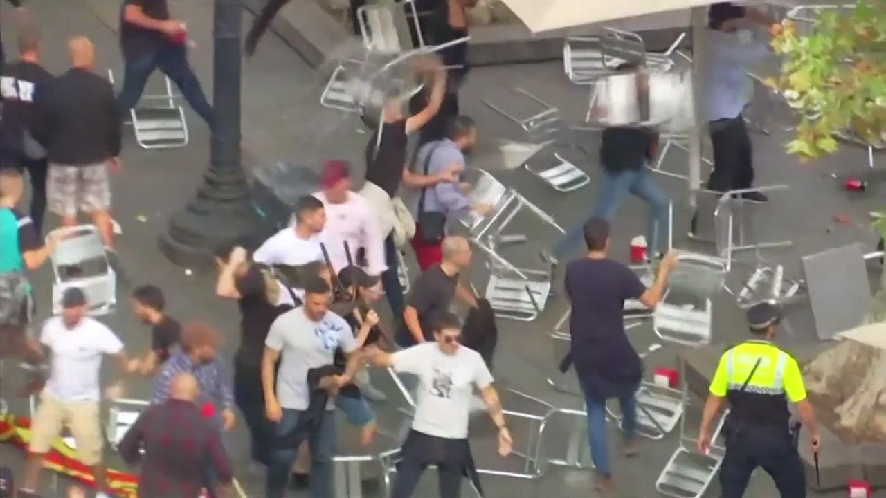 카탈루냐 분리독립 추진...찬반 시위대 폭력 충돌