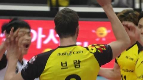 OK저축은행, 한국전력에 3:2 승리