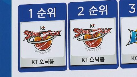부산 kt, 신인 드래프트 전체 1·2순위 지명권 동시 획득