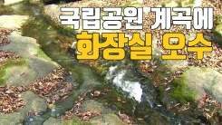 [자막뉴스] 국립공원 계곡에 화장실 오수 '줄줄'