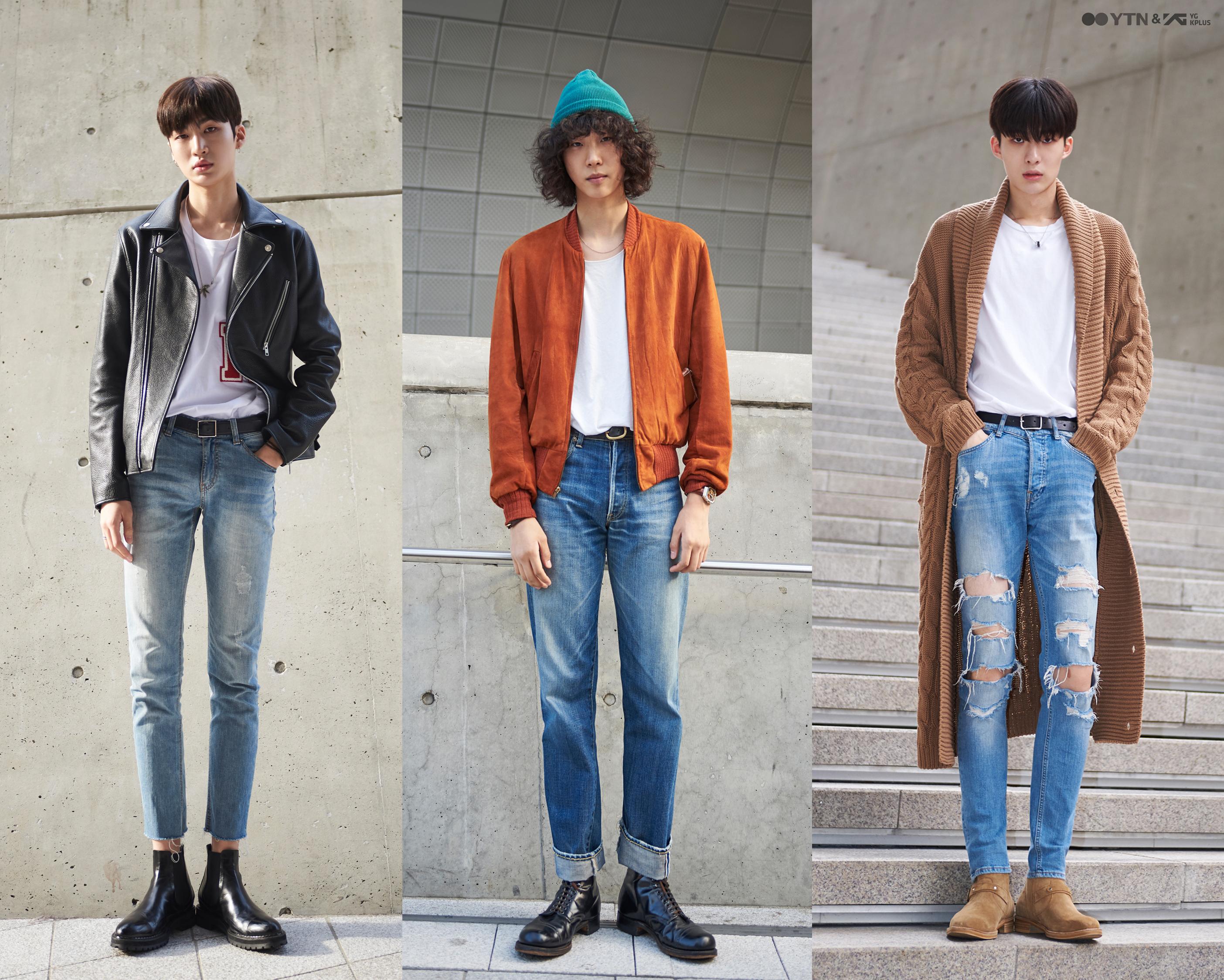 '데님이 잘 어울리는 남자' 모델들의 스타일 대결!
