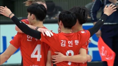 한국전력, 우리카드 꺾고 선두 도약