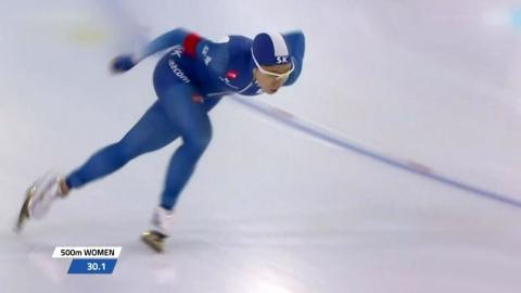 이상화, 시즌 첫 월드컵 2위...남자 팀추월 우승
