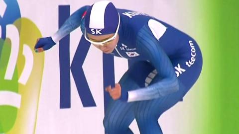 이상화, 월드컵 2차 대회 500m 7위 '부진'...고다이라 나오 우승