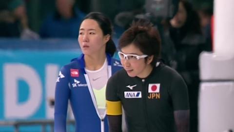 이상화, 500m 2차 레이스 동메달...고다이라 우승