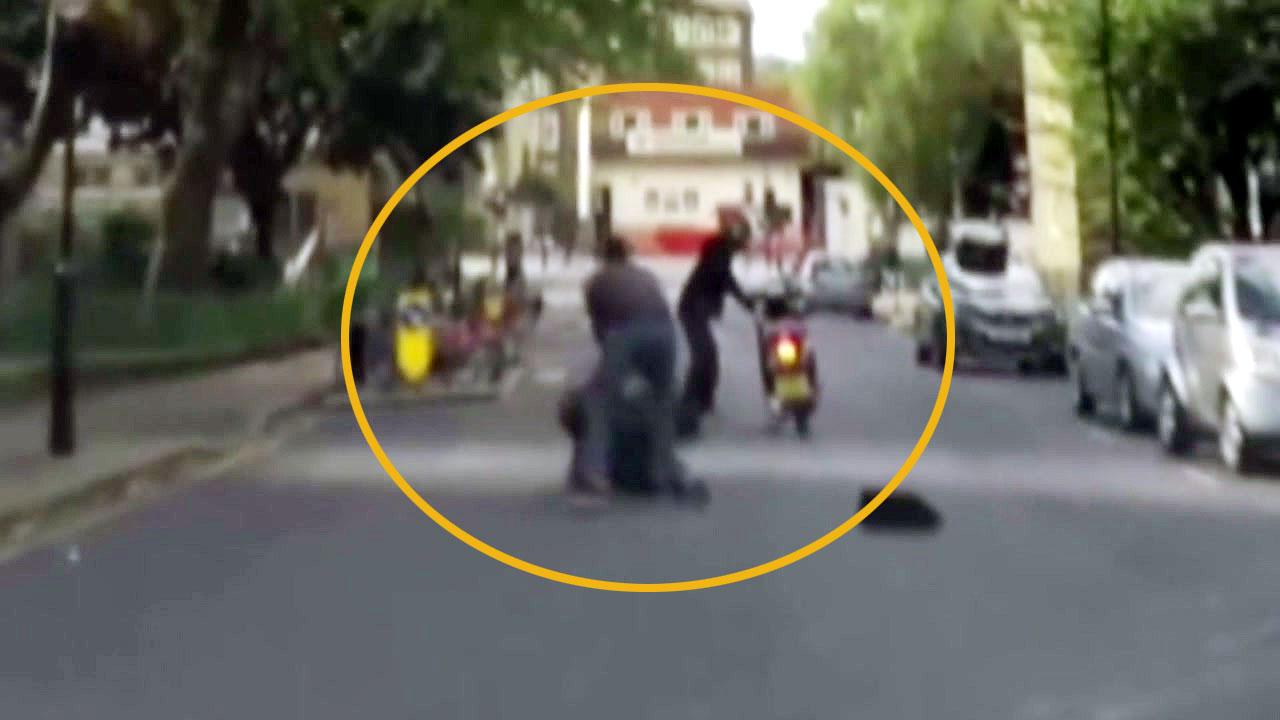[지구촌생생영상] 맨몸으로 소매치기범 제압한 시민 영웅