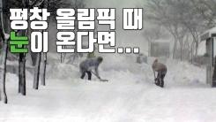 [자막뉴스] 평창 올림픽 기간에 폭설이 온다면...?