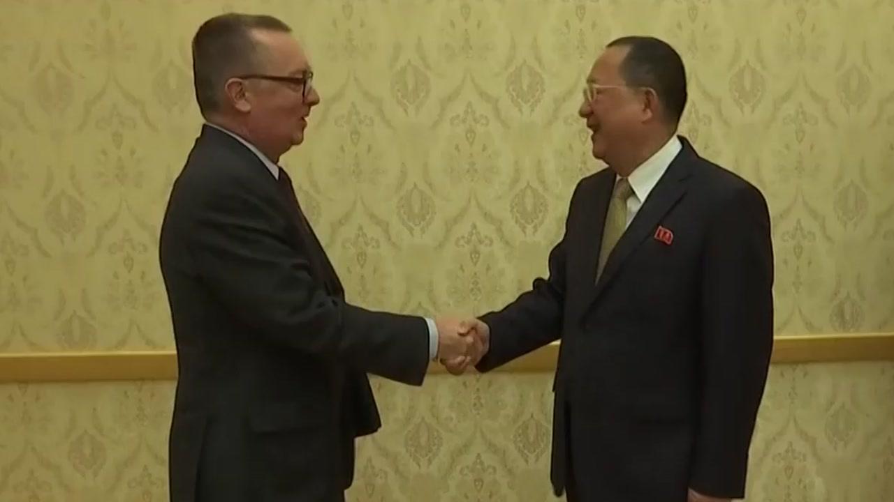 방북 유엔 사무차장, 리용호 외무상 만나