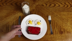 레고 블록으로 만든 '아침 식사 풍경'