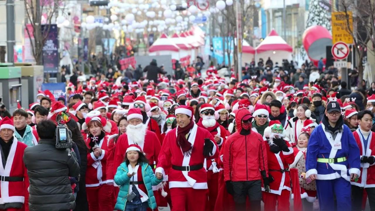 """[좋은뉴스] 오늘은 내가 산타...""""달리면서 기부해요"""""""