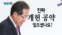 """[팔팔영상] """"홍준표 대표님, 개헌 대선공약 기억하시나요?"""""""