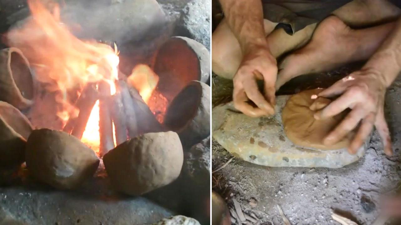 [영상] 굽고 빚고...원시인 기술로 만든 그릇