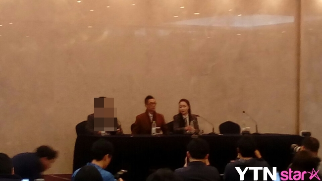 """'혼인신고' 낸시랭, 왕진진과 기자회견 동행 """"진실은 승리할 것"""""""