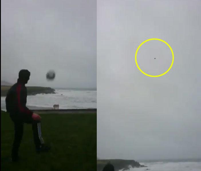 멀리 찬 축구공 되돌아오게 하는 태풍의 놀라움