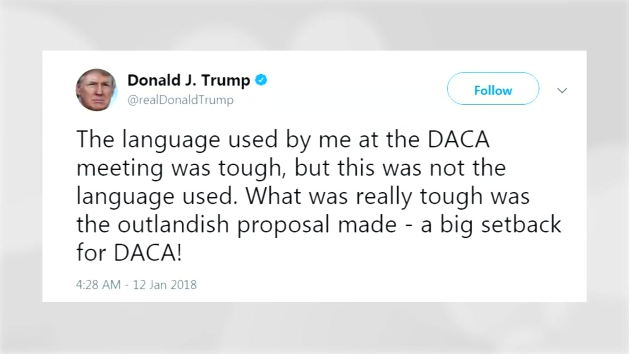 """트럼프, '거지소굴' 파문에...""""내가 사용하는 언어 아냐 """""""