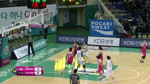 '강이슬 3점슛 8개' 하나은행, KDB생명에 역전승