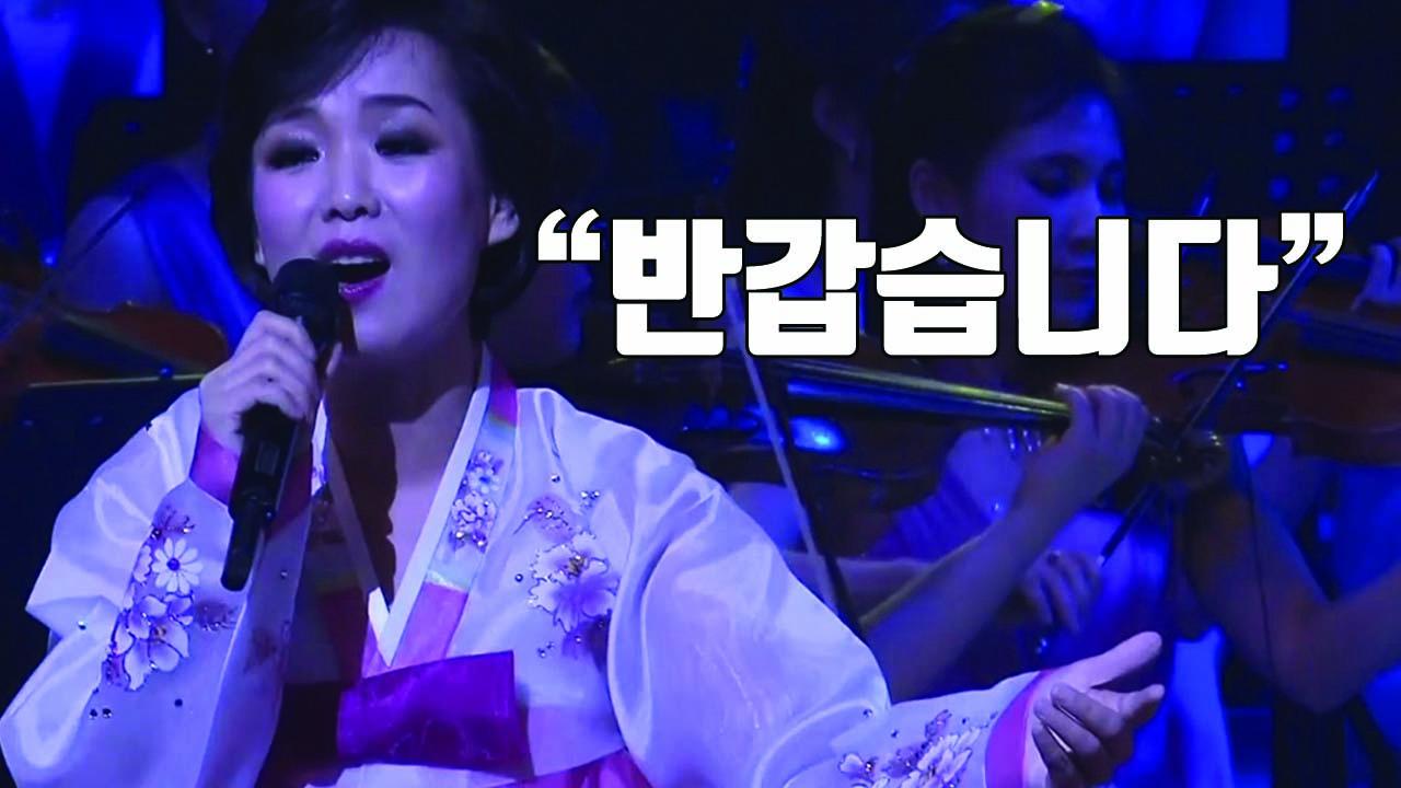"""[자막뉴스] """"반갑습니다♬"""" 북한 예술단 공연 현장"""